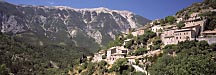 Village beneath the looming Mont Ventoux, Provence