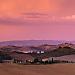 Sunrise before thunderstorm, Crete Senese