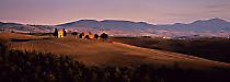 Last light, autumn, Capella di Vitaleta