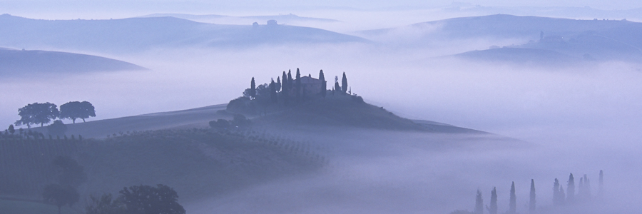 Val d'Orcia - the blue hour - Tuscany