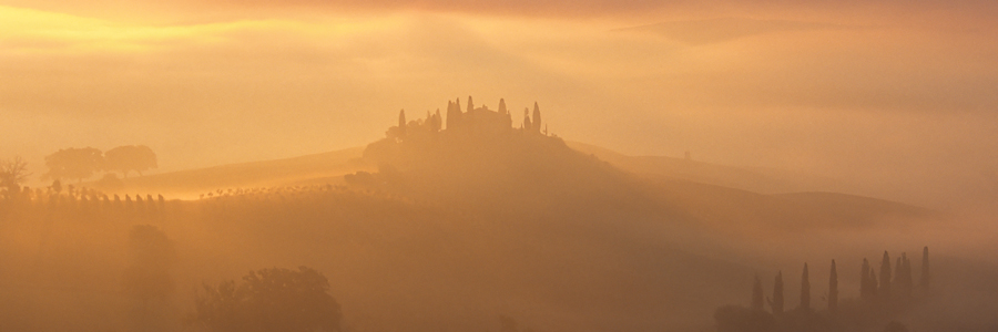 And then the sun rose - Val d'Orcia, Tuscany