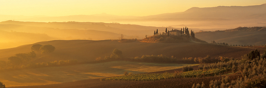 Winter sunrise - Val d'Orcia, Tuscany